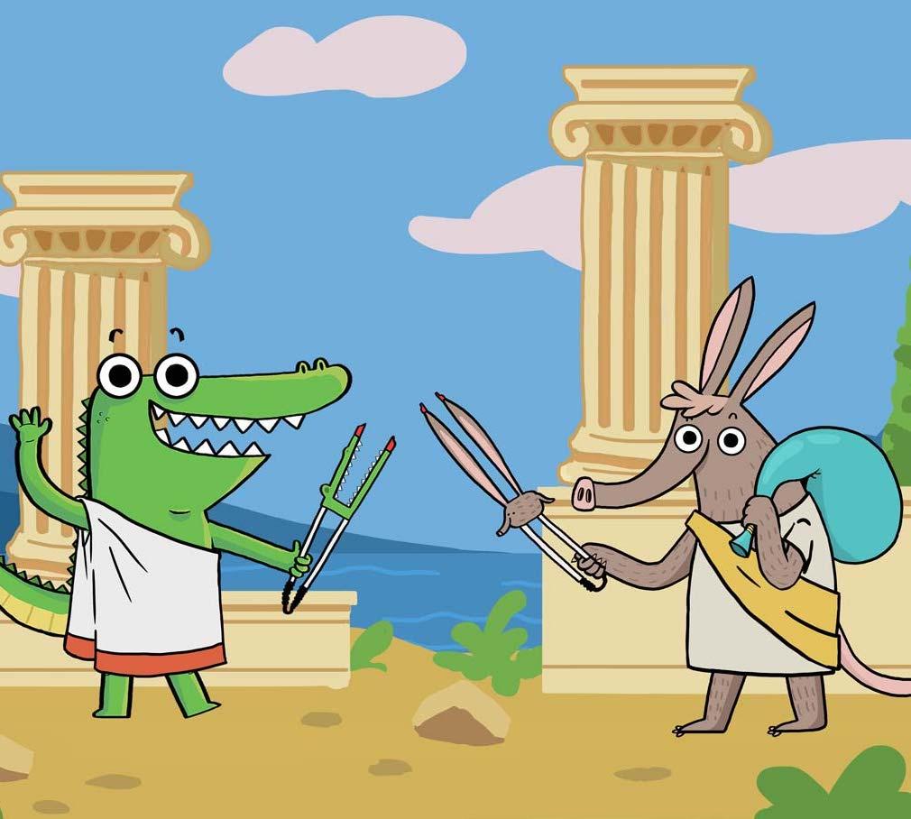 Picker Pals with Togas Ancient Greek Litter